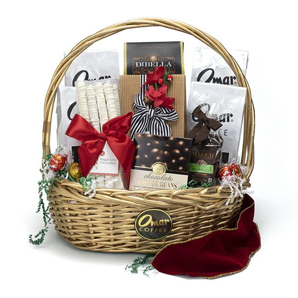 24 Karat Christmas Magic Coffee Gift Basket - Omar Coffee