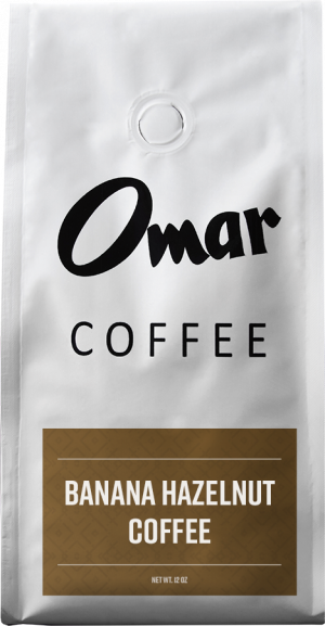 Omar Coffee Banana Hazelnut Flavored Coffee