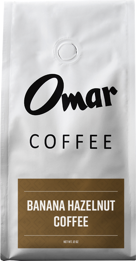 Omar Coffee Banana Hazelnut Flavored Coffee