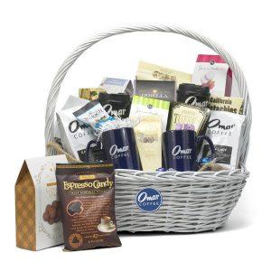 Large White Gift Basket